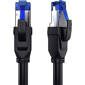 15m - Cavo di Rete Cat 8 di Alta qualitá - 40 Gbits - SFTP PIMF - RJ45 Switch Router Modem Access Point - Cavo ethernet… 41SUJZtNORL. SS300