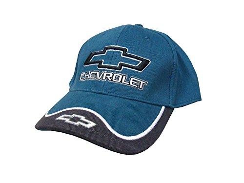 Hot Shirts Chevrolet With Bowtie Hat: Blue - NASCAR Chevy SS Chevelle Camaro Impala Nova Corvette Racing