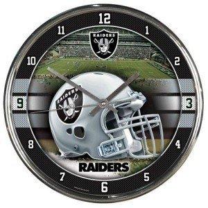 Oakland Raiders Round Chrome Wall ()