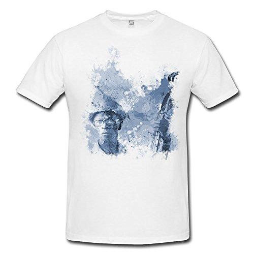 Jazz Spieler Cuba Herren T- Shirt , Stylisch aus Paul Sinus Aquarell Cyan
