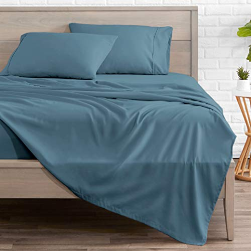 Bare Home Queen Sheet Set - 1800 Ultra-Soft Microfiber Bed Sheets - Double Brushed Breathable Bedding - Hypoallergenic – Wrinkle Resistant - Deep Pocket (Queen, Coronet Blue)