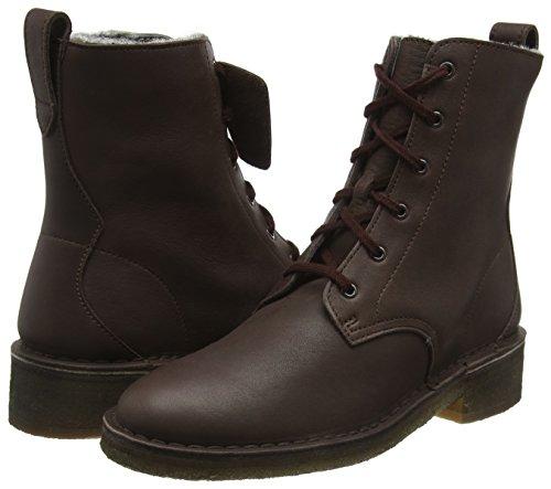 dark Clarks Originals Marrone Brown Stivaletti Leather Maru Elsa Donna AwY1xwHqP