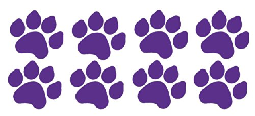 8 Dog Paw Prints Sticker Purple - Dogs, Puppy, Pooch Lover