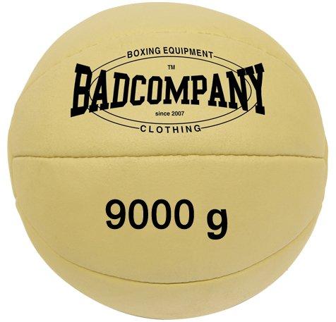 Bad Company Medizinball I Vollball aus Leder - Hellbraun