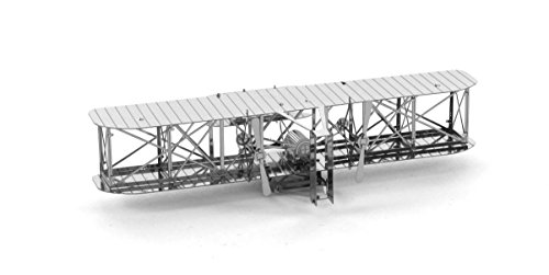 Fascinations Metal Earth Wright Brothers Airplane 3D Metal Model Kit First Airplane Kit