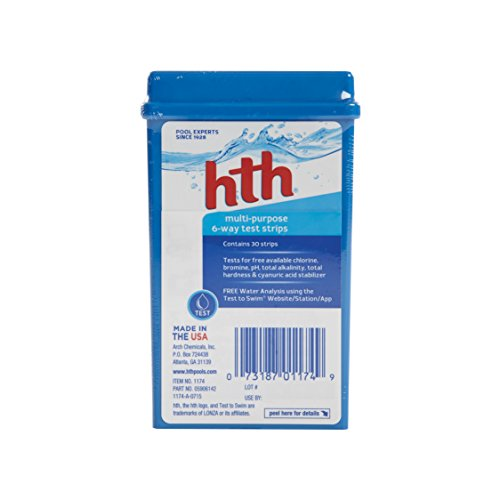 hth Pool Test Kit 6-Way Test Strips (1174)