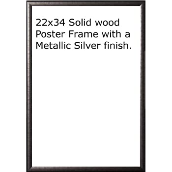 Amazon.com - Wood Painted Black Poster Frame 22x34 or 34 x 22 -
