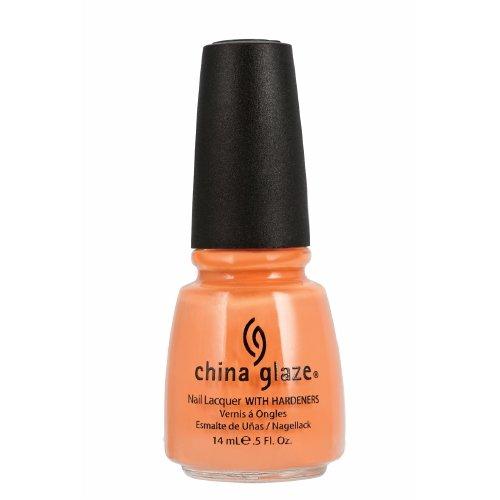 執着半球フォルダ(3 Pack) CHINA GLAZE Nail Lacquer with Nail Hardner 2 - Peachy Keen (並行輸入品)
