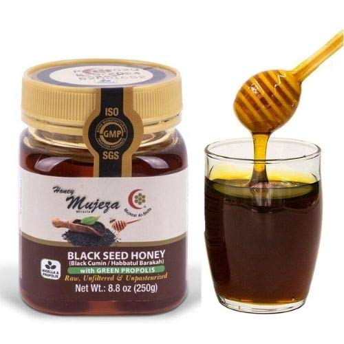 Mujeza Black Seed Honey with Green Propolis - Where to buy raw organic honey