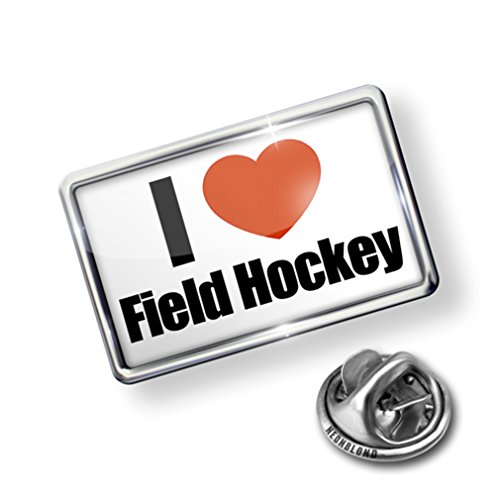 Pin I Love Field Hockey - Lapel Badge - (Field Hockey Pin)