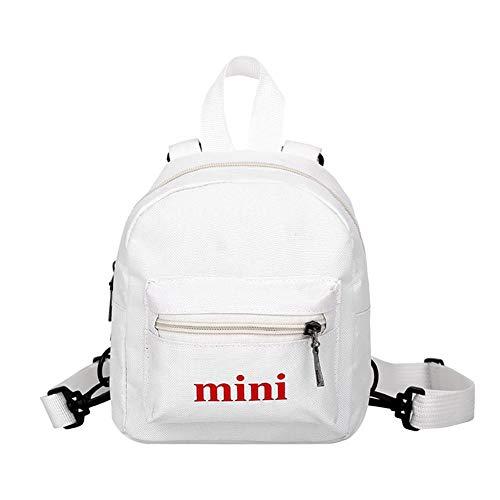 Borse da spalla in nylon da donna Zaini Mini in nylon Zaini da viaggio casual per ragazze adolescenti White