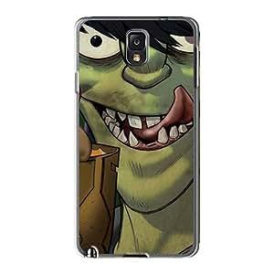 Samsung Galaxy Note3 RIG16721CvGV Customized Vivid Gorillaz Band Series Bumper Hard Phone Cover -AlissaDubois