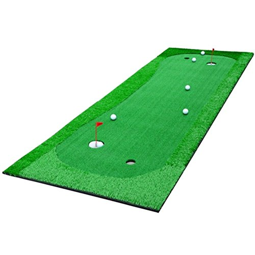 77tech Golf Putting Green System Professional Practice Green Long Challenging Putter Indoor Outdoor Golf Simulator Training Mat Aid Equipment