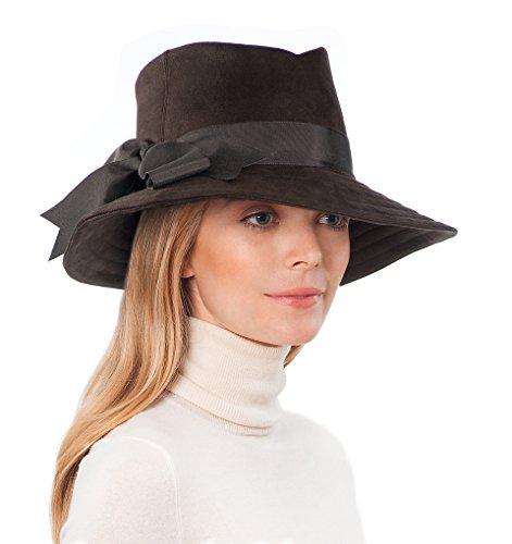 Eric Javits Luxury Fashion Designer Women's Headwear Hat - Tyson - Brown by Eric Javits