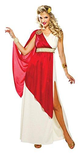 COSTUME LADY CAESAR - CREAM/RED - (Lady Caesar Costumes)