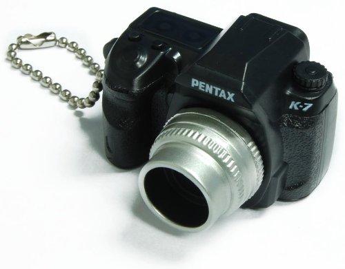 Pentax Capsule Mini Camera Keychain K-7 Black Camera