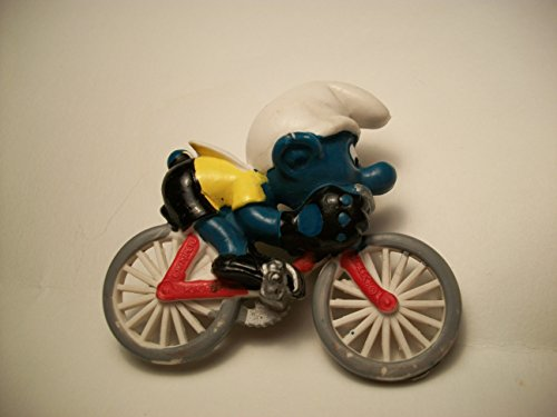(Smurf on Bicycle Vintage PVC Figure)