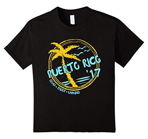 Beach Kids T-shirt (Kids Puerto Rico Beach T-Shirt 8 Black)
