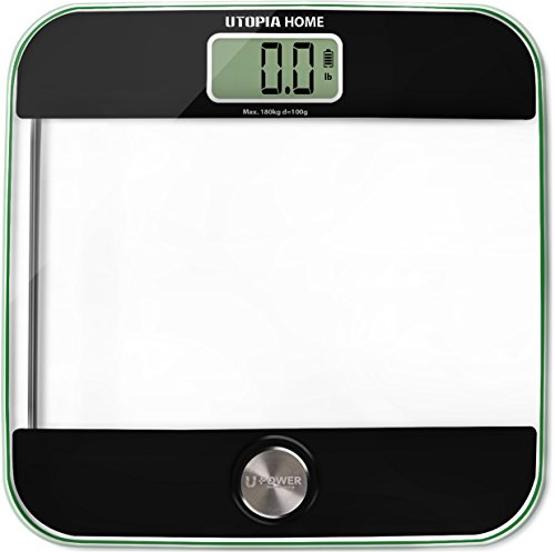 Digital Body Weight Bathroom Scale with Step-...