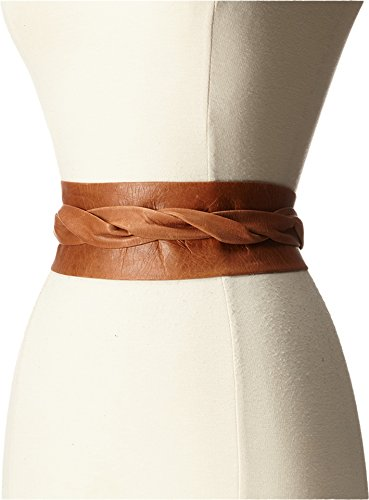 - ADA Collection Women's Obi Classic Wrap Belt Cognac One Size