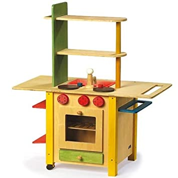 Legler Kinderküche Spielküche Holz Küche All in one: Amazon.de ...