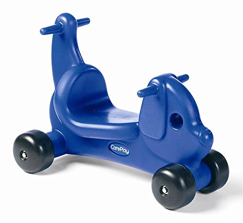 Kids Puppy Ride-On in Blue Molded Plastic with Handles (Careplay Puppy)