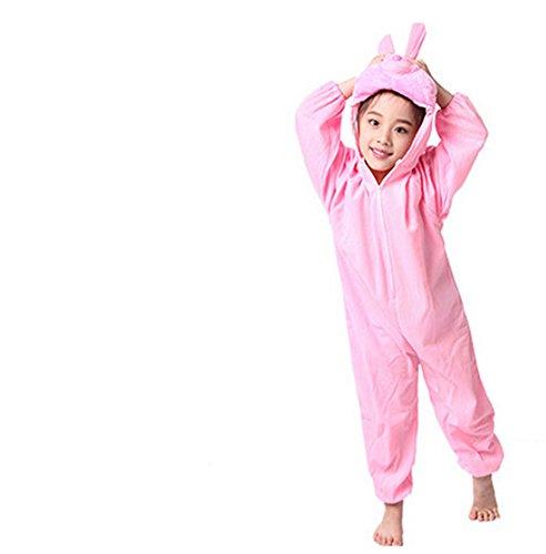 Rabbit Costumes For Kids (Children Animals Costume Cartoon Jumpsuit (5-6 Years, Pink rabbit))