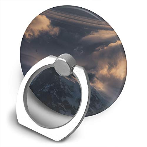 (Round Finger Ring Cell Phone Holder Mountains Scenery 360 Degree Rotating Stand Grip Mounts)