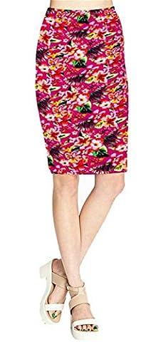 Jimmetfrend New Fashion Women's Leopard Pencil Skirt High Waist Floral Grid Printing Middle Skirts Colors 21 - Las Vegas Wedding Invitation Wording