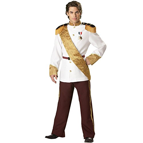 InCharacter Costumes, LLC Men's Prince Charming Costume, White, Large (Charming Prince Costume)