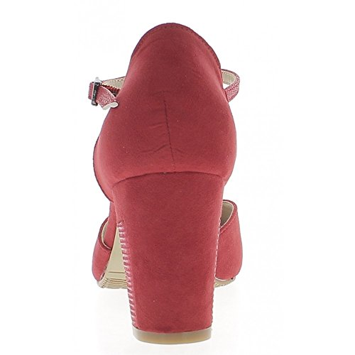 Rouges Escarpins 7 Talon ChaussMoi à Brides 5cm gqzy5v