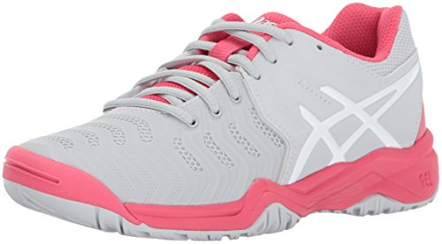 ASICS Unisex-Kids Gel-Resolution 7 GS Tennis-Shoes, Glacier