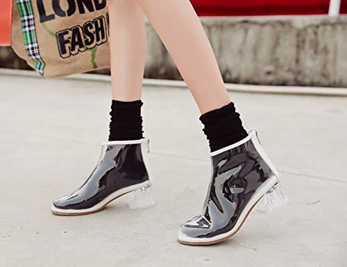 Blanc Femme B 5 ToeCM Fermeture Chaussures Vaneel Round Éclair vabtrt Bottes SdqFWxwzO