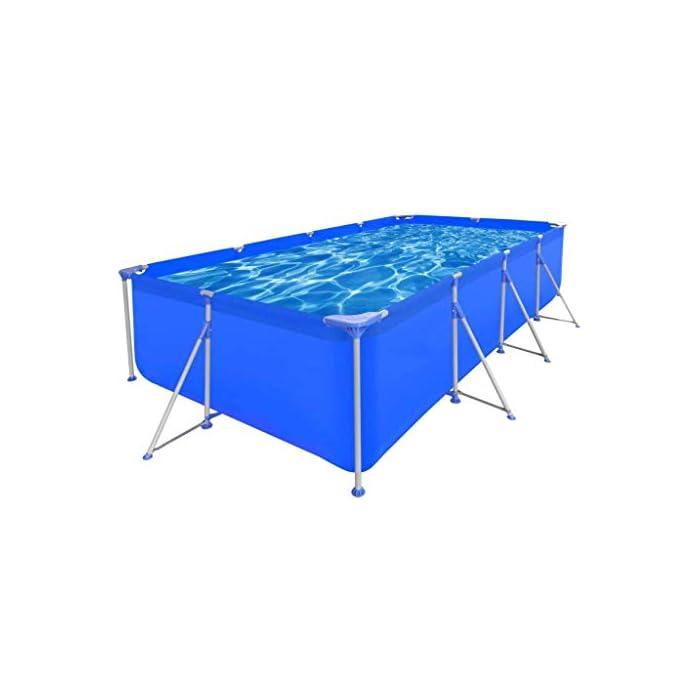 41SUPUWpGzL Estructura de acero lacado de larga duración. Pared de piscina reforzada con tejido de poliéster. Color: azul