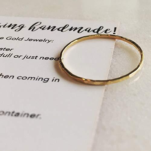 Hammered Size 9 14k Gold Filled Ring ()