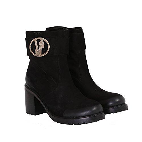 Versace Buckle Noir bottine désert Suede Linea Jeans femme pw8CqrpB
