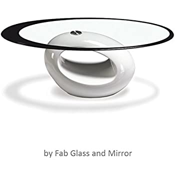 coffee table clipart black and white. fab glass and mirror stylish coffee table, oval, white table clipart black