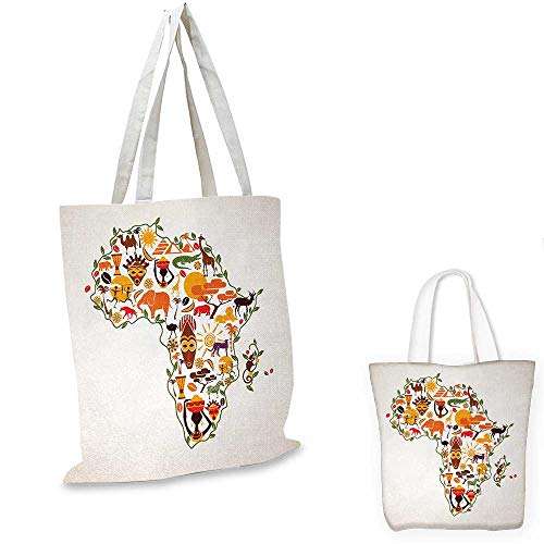 (African canvas messenger bag Africa Travel Map Plan Traditional Objects Continental Ethnic Culture Arts Craft Print canvas beach bag Multi. 12