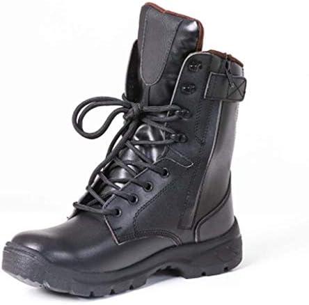 軍事戦術ブーツマイクロファイバーレザー気孔換気アンチキックの足キャップジャングルブーツ滑り止め耐摩耗クッション快適なラバーソール (色 : 黒, サイズ : 24 CM)