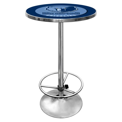 NBA Memphis Grizzlies Chrome Pub Table by Trademark Global