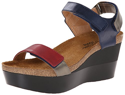 Miracle Blue Wedge Naot Sandal Women's 5vwXWxzqC