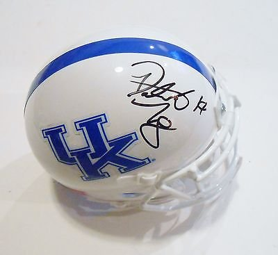 Patrick Towles Signed Kentucky Wildcats Football Mini Helmet w/COA C