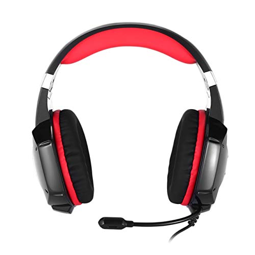 Liobaba Portable 3.5mm Audio Jack Gaming Headphone Headband with Mic Stereo Bass Game Playing Headset