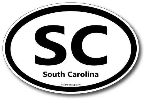 SC South Carolina Car Magnet US State Oval Refrigerator Locker SUV Heavy Duty Waterproof…
