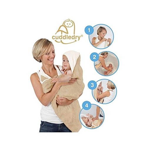 Original Cuddledry Baby Apron Bath Towel Oatmeal - Pack of 4 by Cuddledry®