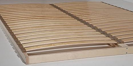 SOMIER 20 flexible listones por superficie breitere Muelle listones aprox. 55 mm Günstig maciza, madera, haya natural, 180 x 200 cm
