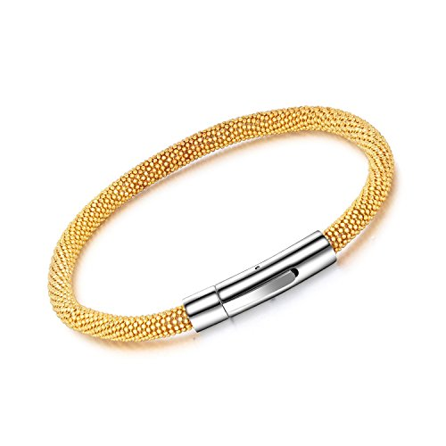 Dalino Fashion and Personality New European and American Style Titanium Steel Mesh with Buckle Design Bracelet Men's Bracelet by Dalino