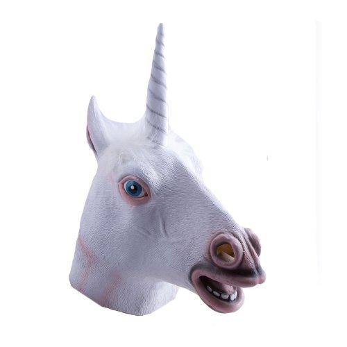 HMS Men's Unicorn Mask, White, One Size