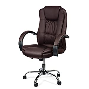 Manson Executive Office Chair With PU Leather Back Support High-Back