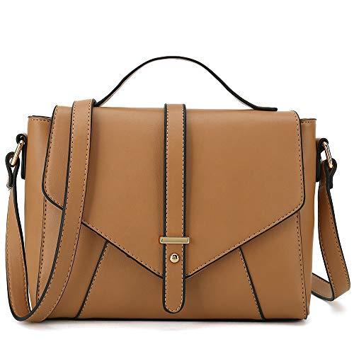 Ladies Designer Purses Cross Body Handbags Trendy Bags for Women Shoulder Bags (Light Brown) ()